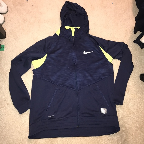 Nike Dri Fit Hoodie 2XL XXL Neon